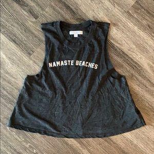 Spiritual Gangster Large Namaste Beaches Tank Grey